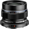 Olympus M.Zuiko Digital ED 12mm f/2 Lens (Black/Silver)