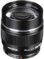 Olympus M.Zuiko Digital ED 75mm f/1.8 Lens (Black/Silver)