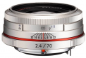 Pentax HD 70mm f/2.4 Limited (Sidabrinis)