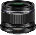 Olympus M.Zuiko Digital 25mm f/1.8 Lens (Black/Silver)
