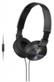 Sony ausinės MDR-ZX610AP (Black) for Smartphones