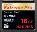 SanDisk CF 16GB Extreme Pro 160MB/s