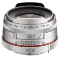 Pentax HD 15mm f/4 Limited Silver