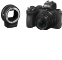 Nikon Z50 Body + 16-50mm f/3.5-6.3 VR + FTZ adapteris