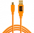 Tether Tools kabelis TetherPro USB 2.0 Mini-B 5-Pin Cable, orange, 4.6m