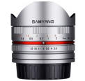 Samyang obj. 8mm f/2.8 UMC Fish-eye II Silver (Canon EF-M, Four-thirds, Fujifilm X, MFT, Sony E)