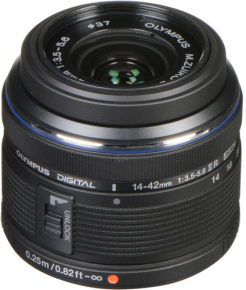 Olympus M.Zuiko Digital 14-42mm f/3.5-5.6 II R Lens (Black/Silver)