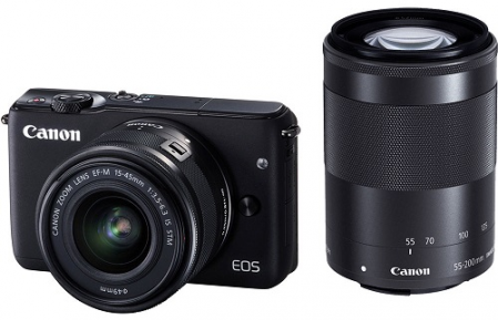 Canon EOS M100 + EF-M 15-45mm f/3.5-6.3 IS STM / EF-M 55-200mm f/4.5-6.3 IS STM