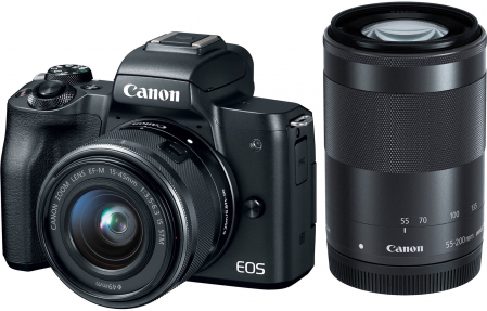 Canon EOS M50 + EF-M 15-45mm f/3.5-6.3 IS STM + EF-M 55-200mm f/4.5-6.3 IS STM