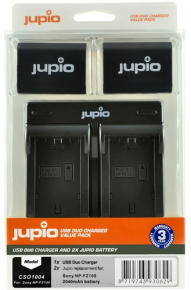 Jupio Kit: 2x Battery NP-FZ100 2040mAh + USB Duo Charger