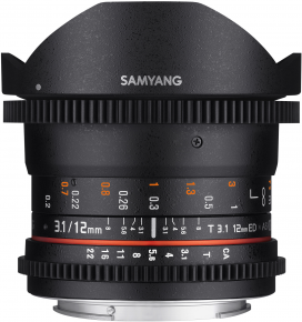 Samyang obj. VDSLR 12mm T3.1 ED AS NCS Fish-eye (Sony E)