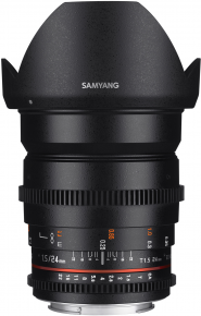 Samyang obj. VDSLR 24mm T1.5 ED AS IF UMC II (Canon EF-M, Four-thirds, Fujifilm X, MFT, Sony E)