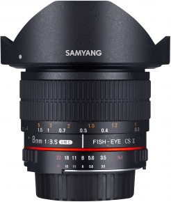 Samyang obj. 8mm f/3.5 UMC Fish-Eye CS II (Canon EF-M, Four-thirds, Fujifilm X, MFT, Sony E)