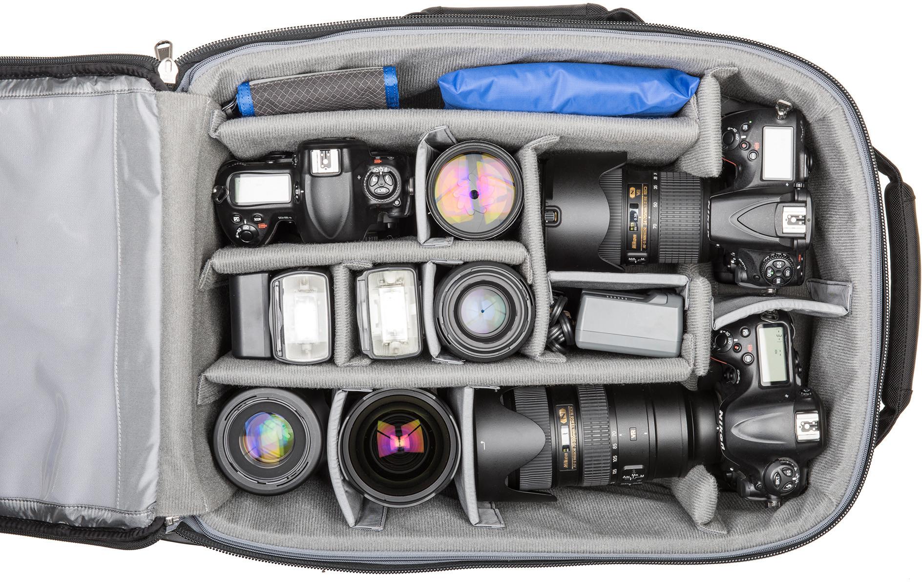 гибкость настроек чемоданы для фототехники его